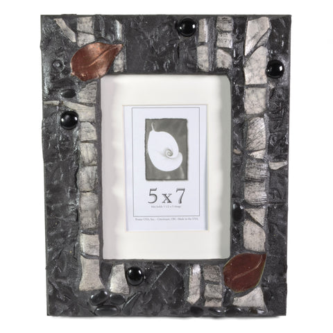 PotTerre Raku Pottery Aspen 5 x 7 Photo Frame - The Barrington Garage