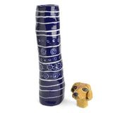 Red Cat Ceramics Pet Memorial, Golden Retriever with Blue Urn - The Barrington Garage
