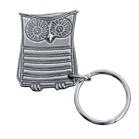 Roosfoos Pewter Wendell the Owl Key Chain - The Barrington Garage