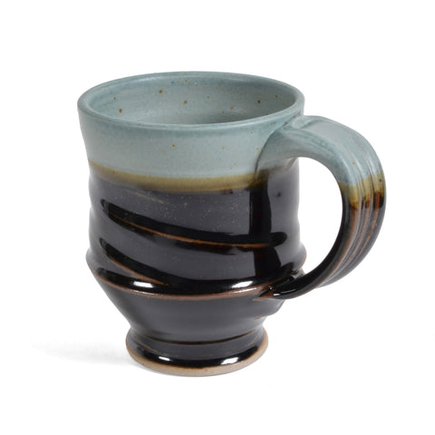 Royce Yoder Pottery Mug, Copper/Black