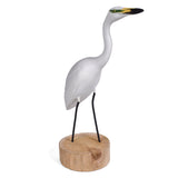 The Painted Bird by Richard Morgan Carved Snowy Egret Figurine
