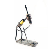 Putting Golfer Recycled Spark Plug Metal Sculpture - The Barrington Garage