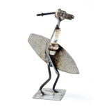 Surfer Recycled Spark Plug Metal Sculpture - The Barrington Garage