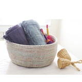 African Fair Trade Handwoven Oval Sewing Basket