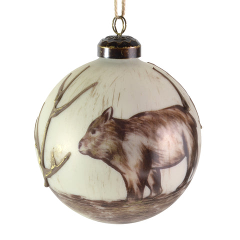"Sage & Co. 4"" Glass Bear Ornament - The Barrington Garage"