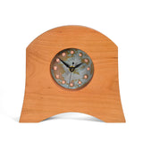Sabbath-Day Woods American Liberty Mantel Clock, Cherry with Copper Face
