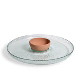 Spanish Recycled Glass and Terracotta Chip and Dip Set
