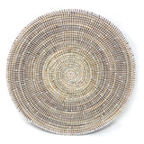 African Fair Trade Large Round Centerpiece Basket, White