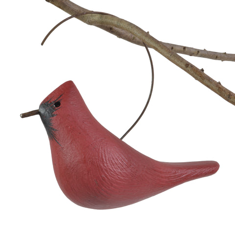 The Painted Bird by Richard Morgan Carved Cardinal Hanging Decoy Ornament - The Barrington Garage