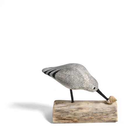 The Painted Bird by Richard Morgan Small Wooden Sandpiper Figurine