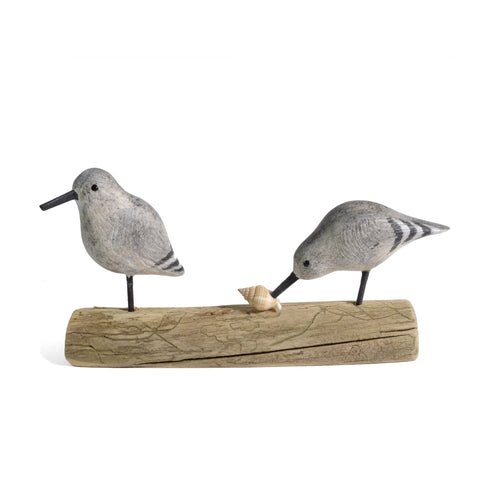 The Painted Bird by Richard Morgan Carved Sandpipers Figurine - The Barrington Garage