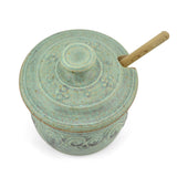 The Potters, LTD Honeypot, Soft Green, View of Lid