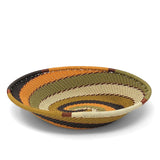 Fair Trade Zulu Telephone Wire 5.75 x 4-inch Small Oval Basket, African Earth