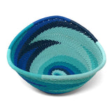 Fair Trade Zulu Telephone Wire 4.5-inch Small Triangle Basket, African Ocean