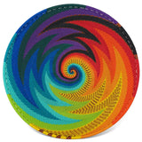 African Fair Trade Zulu Telephone Wire 9-inch Platter Basket, African Spirit