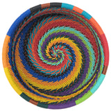 African Fair Trade Zulu Telephone Wire 3.5-inch Catch-All Caddy/Wine Bottle Coaster, Each One Unique, African Spirit