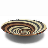 Fair Trade Zulu Telephone Wire 12-inch Platter Basket, Mocha