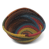 African Fair Trade Zulu Telephone Wire 4.5-inch Small Triangle Basket, Painted Desert