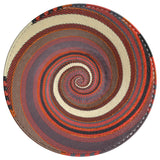 Fair Trade Zulu Telephone Wire 12-inch Platter Basket, Red Pepper