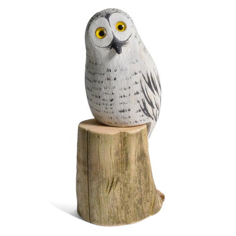 The Painted Bird by Richard Morgan Carved Baby Snowy Owl Figurine