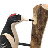 The Painted Bird by Richard Morgan Carved Decoy, Downey Woodpecker