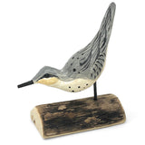 The Painted Bird by Richard Morgan Carved Sandpiper Figurine, Tail Up