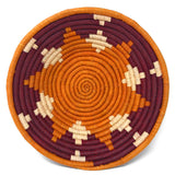 African Fair Trade Handwoven Raffia Basket, Small, Sweet Potato and Sorghum