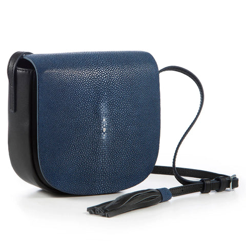 VIVO Brooke Cross Body Leather and Shagreen Handbag