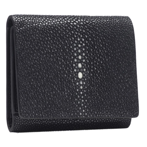 VIVO Evan Men's Genuine Shagreen Tri-Fold Wallet