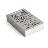 Vilmain Gratitude Pewter Paperweight - The Barrington Garage