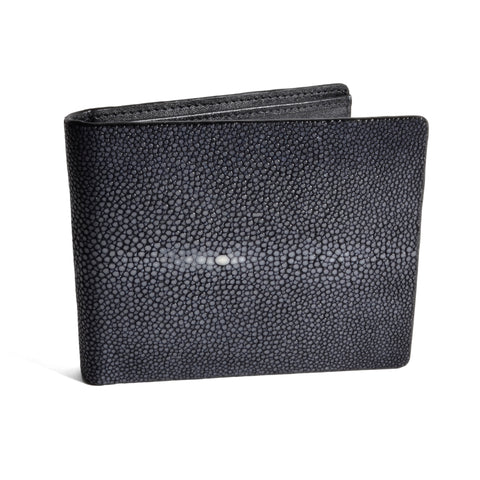 VIVO Eric Men's Genuine Shagreen Slim Billfold Wallet