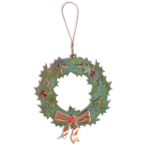 Dos Damas Designs Wreath Copper Ornament