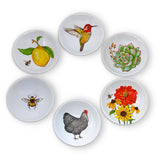 Mary Lake-Thompson Mary's Favorites 3.6-inch Stoneware Dipping Bowls, Assorted Set of 6