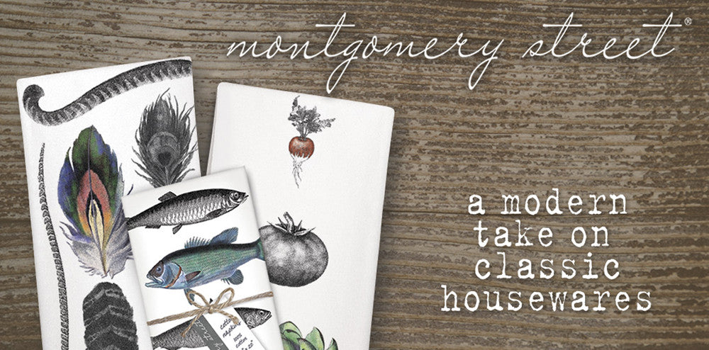 Flour sack towels, cotton napkins from Montgomery Street Designs