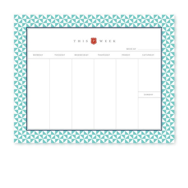 NOTEPAD, PINWHEEL WEEKLY DESK PLANNER