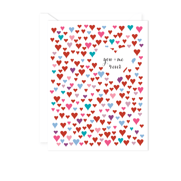 YOU PLUS ME LOVE CARD