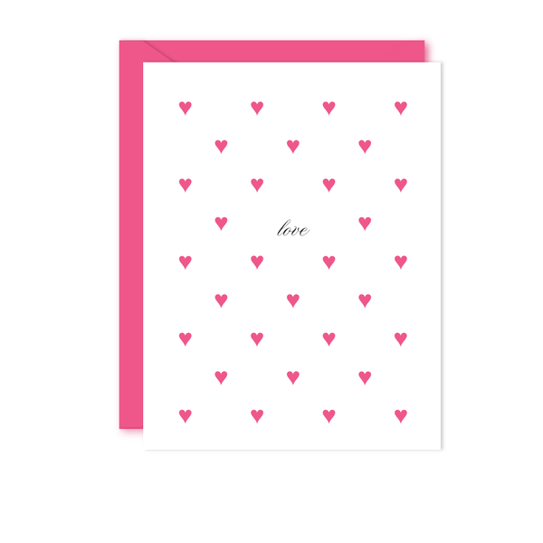 PREPPY HEARTS LOVE CARD