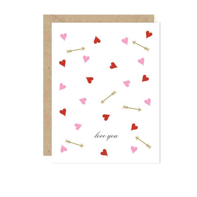 Floating Hearts Love Card