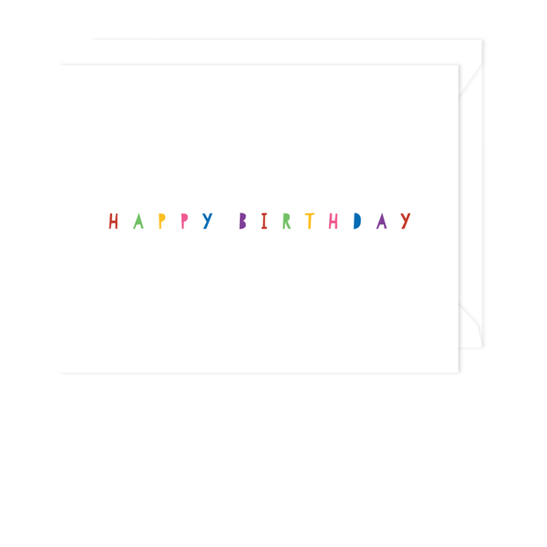 Classic Happy Birthday Card