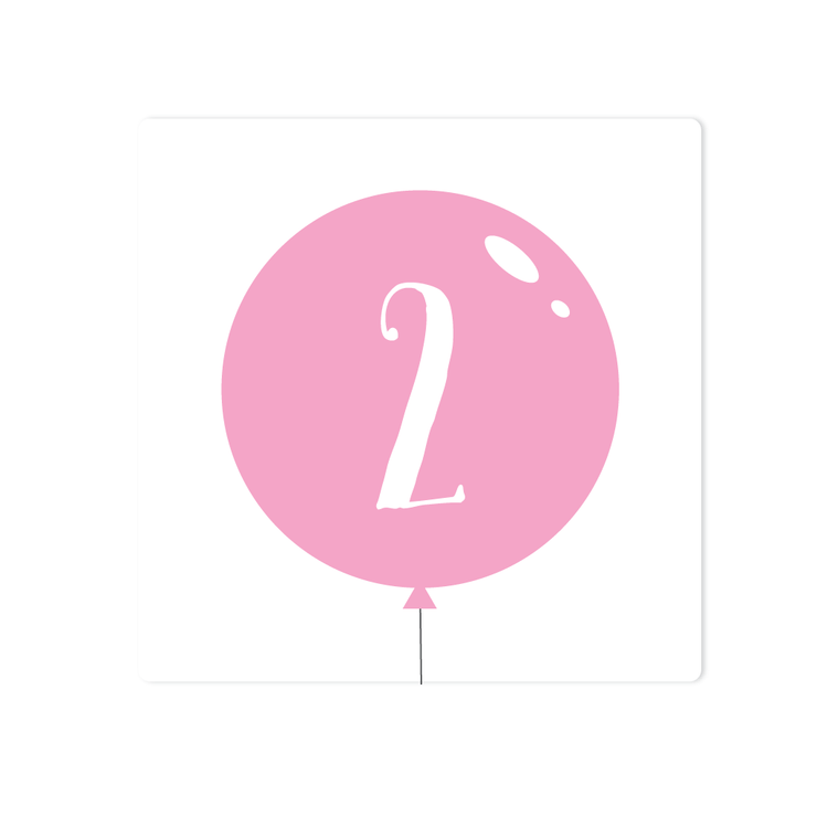 Balloon Number Stickers