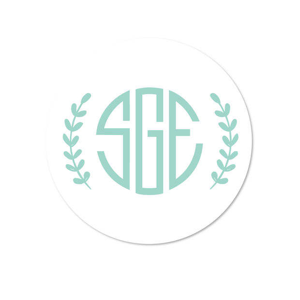 Leaf Monogram Stickers