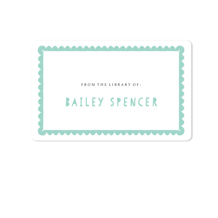 Scallop Bookplates