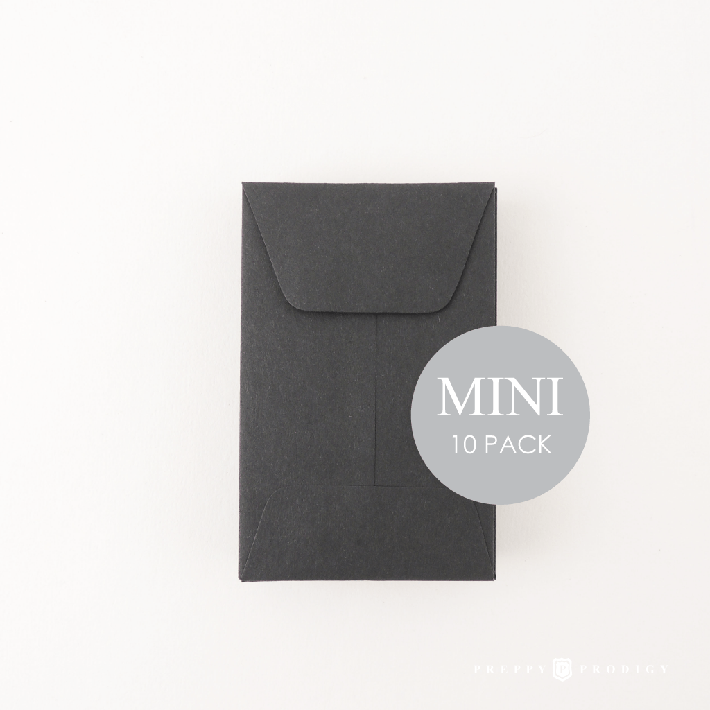 MINI BLACK ENVELOPES