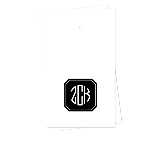 Filled Octagon Monogram Gift Tags