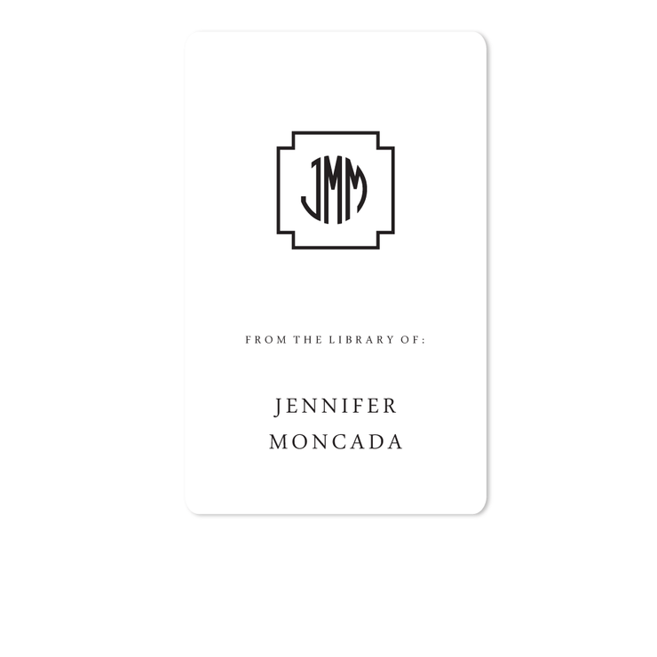 Key Monogram Bookplates