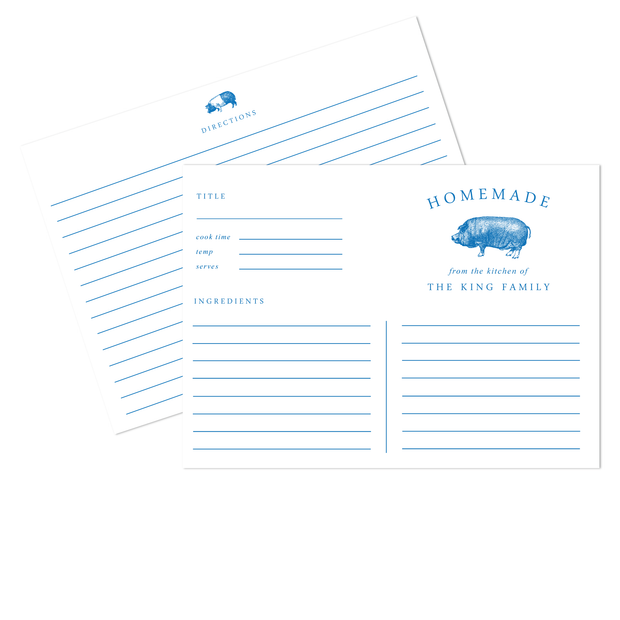 Hog Recipe Cards