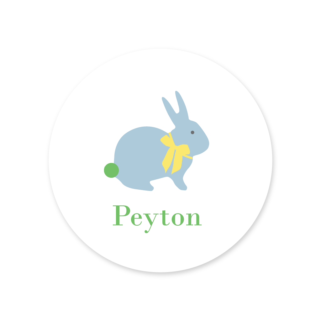 EASTER BUNNY STICKERS, BLUE