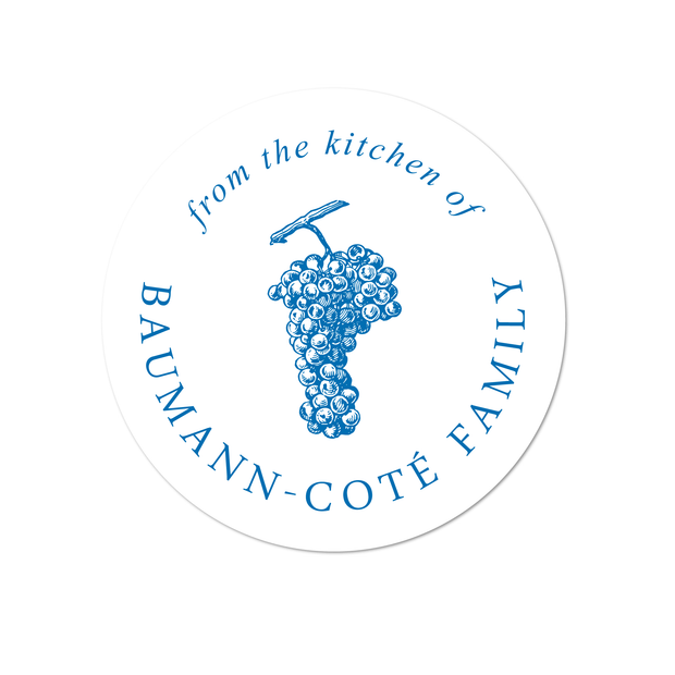 Grape Kitchen Labels
