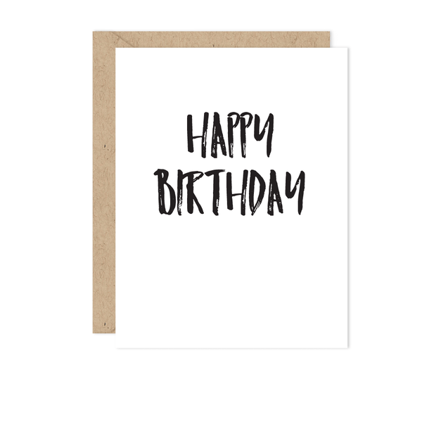 B + W Birthday Card