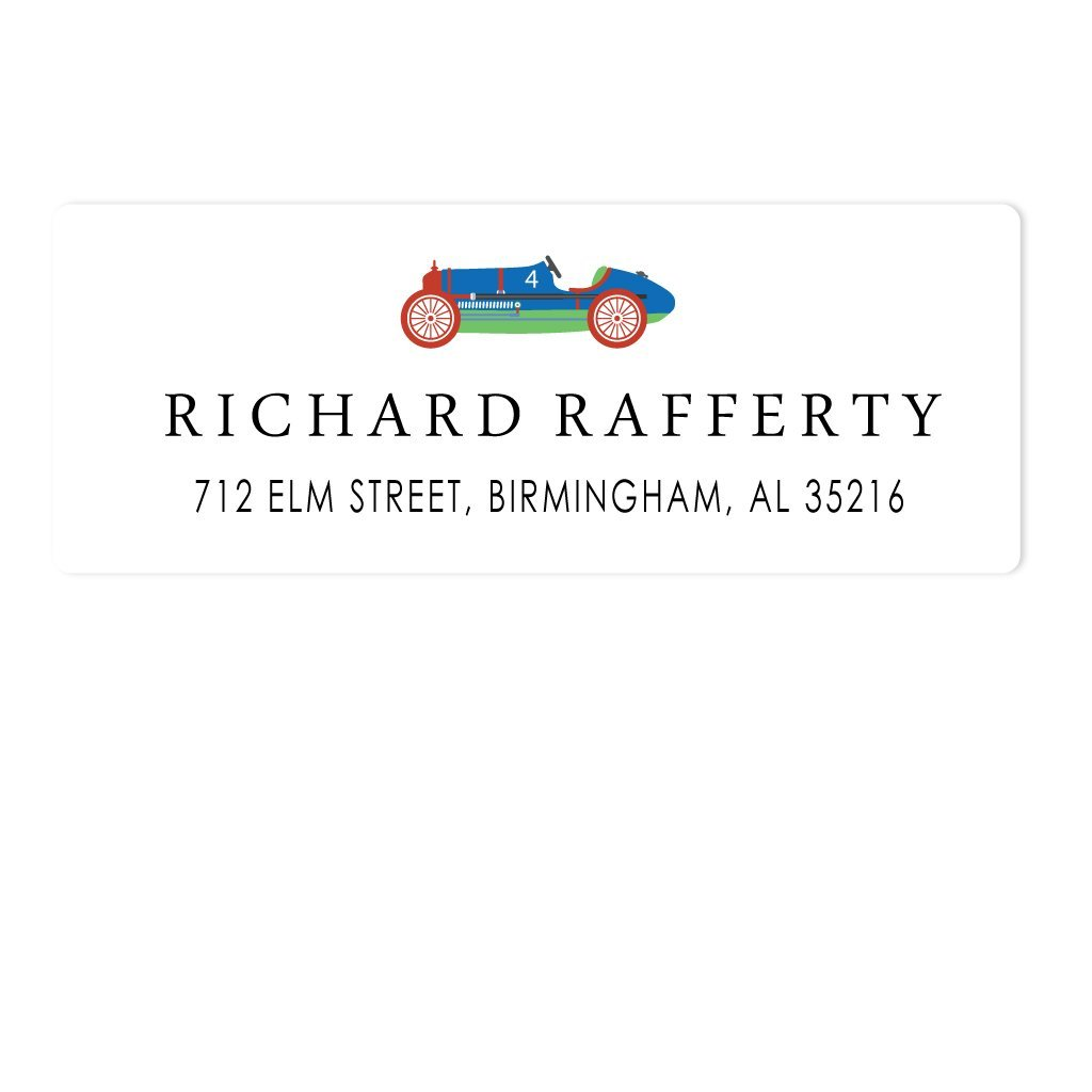 RACECAR ADDRESS LABELS